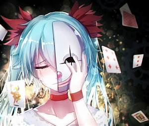 Anime, Girls, Vocaloid, Hatsune, Miku, Mask, Tears, Wallpapers, Hd, Desktop, And, Mobile, Backgrounds