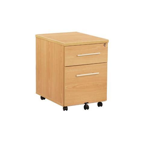caisson mobile bureau caisson de bureau mobile 2 tiroirs acc r24 lemondedubureau