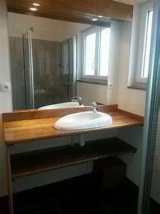 Plan Vasque Bois : plan vasque en bois exotique miroir ~ Premium-room.com Idées de Décoration
