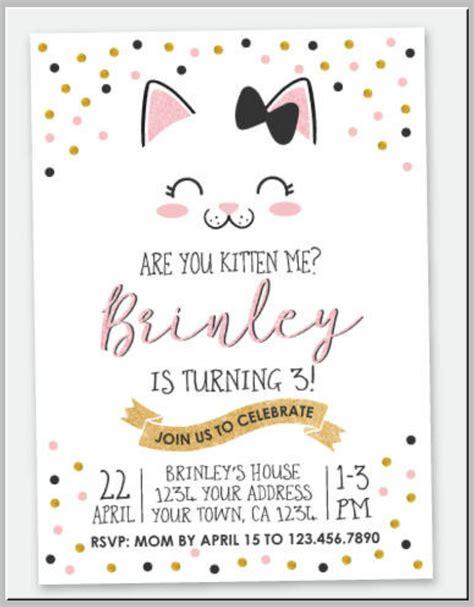 20+ Kitty Themed Invitation Card Designs & Templates PSD
