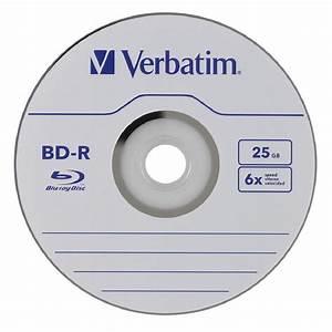Verbatim 50 Blank Bluray Disc 25 Gb 6x Bd