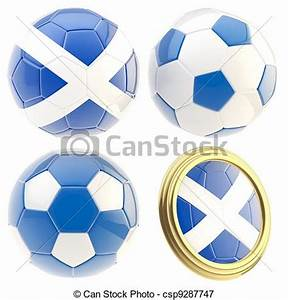 Scotland Football Team Attributes Isolated - Royalty Free ...