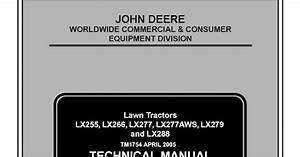 John Deere Lx255 Lx266 Lx277 Lx277aws Lx279 And Lx288 Lawn