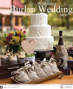wedding ideas rustic wedding ideas using burlap