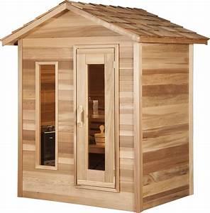 Kleine Sauna Für 2 Personen : outdoorsauna aus zedernholz f r 1 2 personen canadianspa ~ Lizthompson.info Haus und Dekorationen