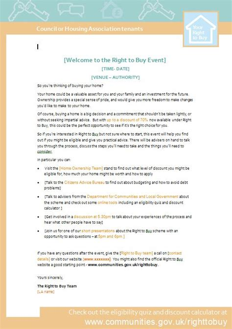 buy event  letter template