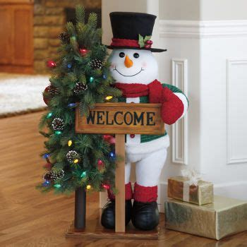 costco wholesale christmas decorations 40 quot fabric snowman greeter with led lights 84 99 at costco