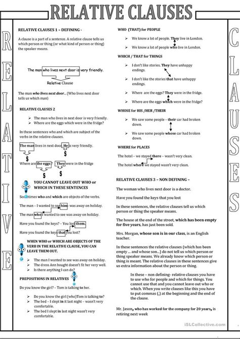 Relative Pronouns Black And White Worksheet  Free Esl Printable Worksheets Made By Teachers