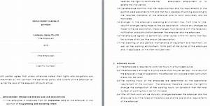 temporary employment contract template With permanent contract of employment template
