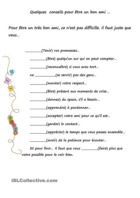 le subjonctif  lamitiac  images teaching french