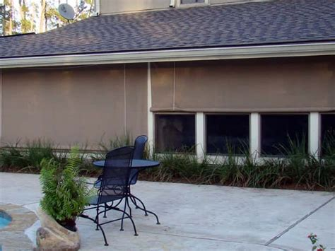 Custom Roll Up Patio Shades by Outdoor Roll Up Shades La Custom Awnings