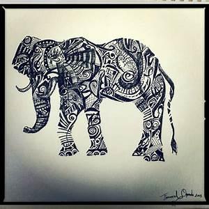 Tribal Elephant by emmanuel7 on DeviantArt