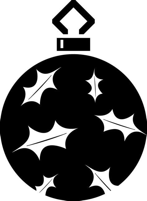 onlinelabels clip art simple tree bauble silhouette