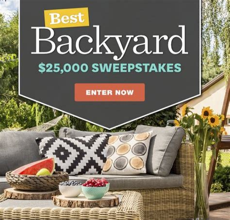homes  gardens  backyard sweepstakes