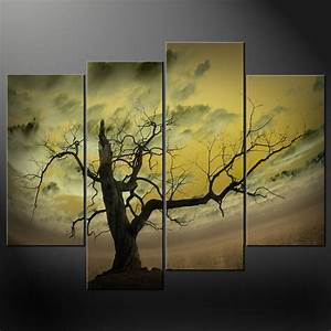 abstract sky tree canvas wall art pictures prints decor With canvas wall decor