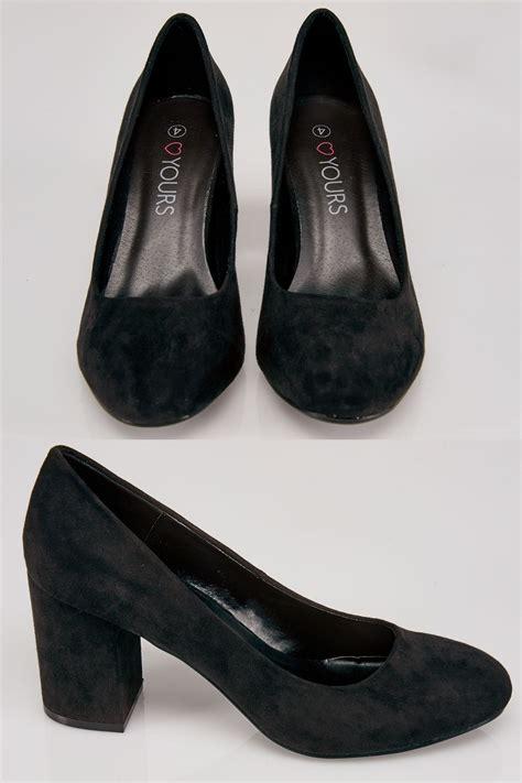 black faux suede court shoes   fit