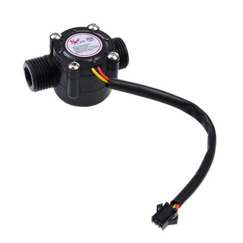 water heater sensor buy dc 5 18v 1 75mpa water heater flow sensor flowmeter black bazaargadgets com