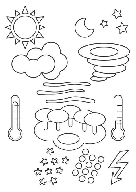 kleurplaat weer symbolen gratis kleurplaten om te printen