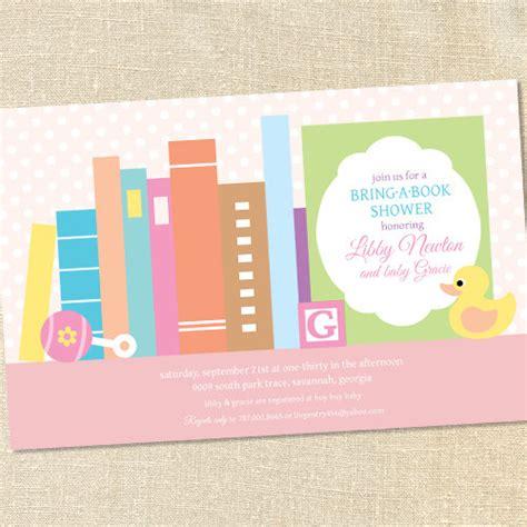 book themed baby shower inivtation dolanpedia