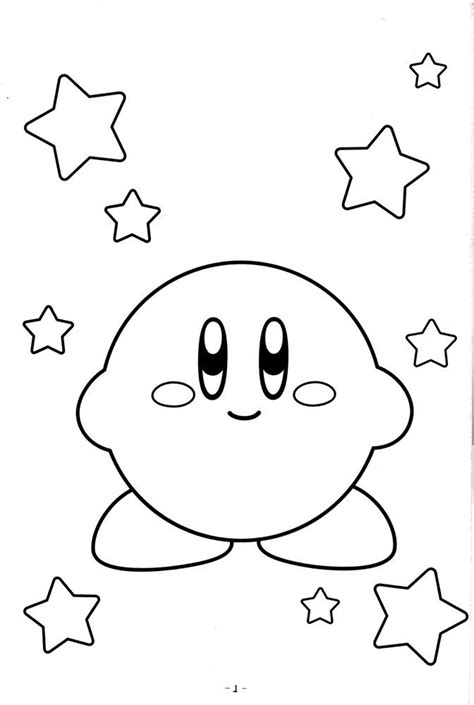 cute kirby coloring pages video game coloring pages