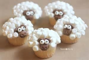 wonderful diy cute marshmallow sheep cupcake