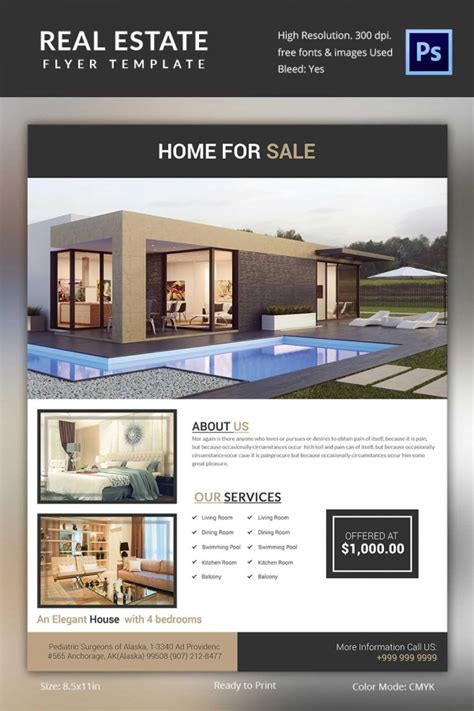 real estate brochure template real estate flyer template 37 free psd ai vector eps format free premium templates