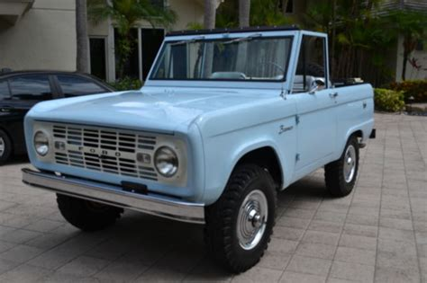 blue bronco car seller of classic cars 1966 ford bronco arcadian blue