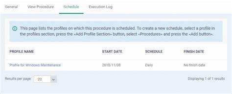 Add Procedure Profile Schedules