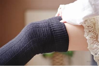 Socks Knee Skirt Thigh Highs Legs Tights