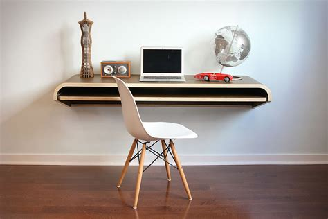 wall mounted desk minimal float wall desk uncrate