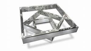 Table Basse Miroir : table basse fizuli fa ades miroir et verre transparent ~ Melissatoandfro.com Idées de Décoration