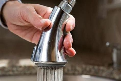 how to clean kitchen faucet how to clean a pull kitchen faucet spray hunker
