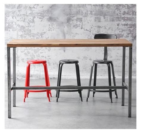 table haute cuisine arri bar table wood and steel for restaurent