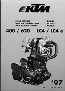 1997 Ktm 400 620 Lc4 Lc4e Engine Service  U0026 Repair Manual