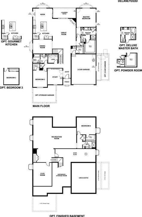 New American Floor Plans by Richmond American Homes Floor Plans New Home
