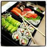 Asian buffet sushi
