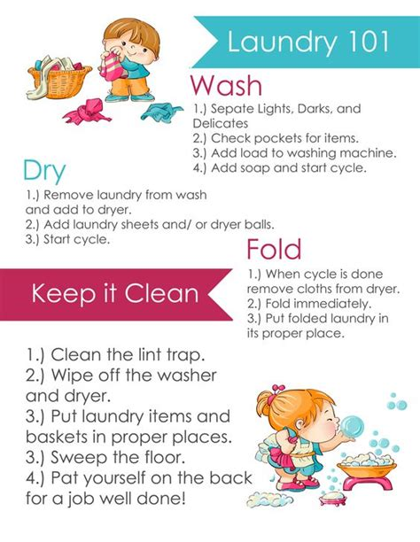 laundry  printable  kids hang