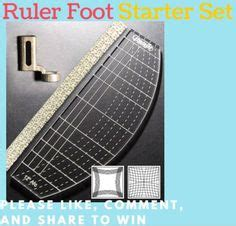 ruler foot and template set quilting rulers the impossible and starter kit on