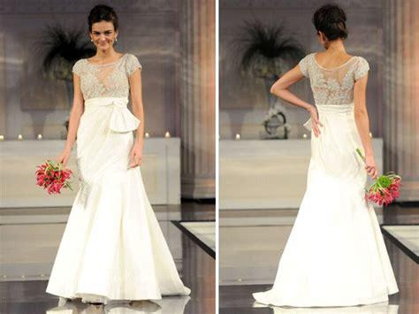 Drop Waist Ivory 2011 Wedding Dress With Jeweled Bodice