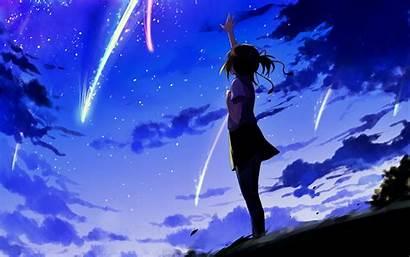 Nawa Kimi Mitsuha Sky Night Clouds Miyamizu