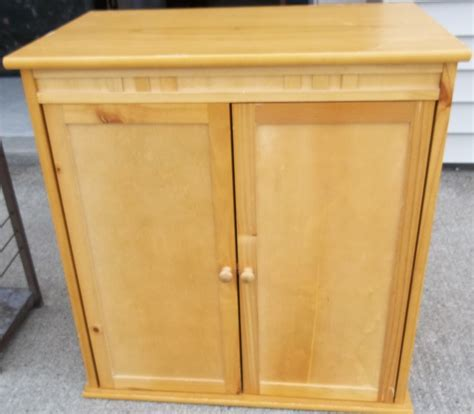 Short Square Light Brown Portable Pantry Cabinet With