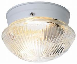 Dome ribbed glass quot ceiling light set of white