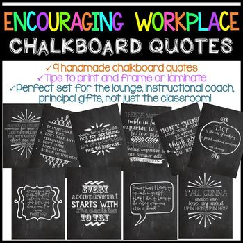 encouraging workplace chalkboard quotes  katie surly tpt