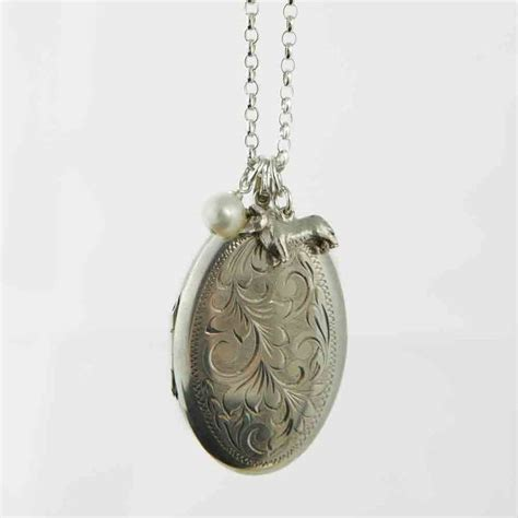 Extra Large Vintage Silver Locket Necklace By Lime Tree. Group Necklace. Monogram Necklace. Eagle Pendant. Red Color Earrings. Tiffany Wedding Rings. Ornate Engagement Rings. Engraved Lockets. Treehut Wooden Watches