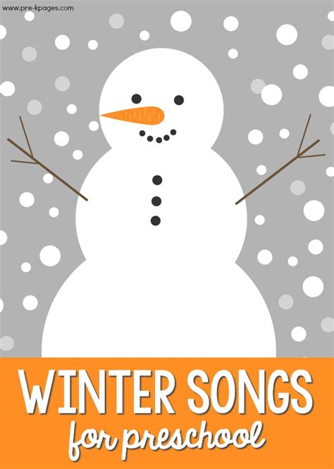 winter songs for preschoolers pre k pages 196   Winter Music for Preschool