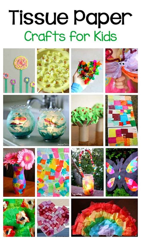 20+ Tissue Paper Crafts For Kids  Buggy And Buddy