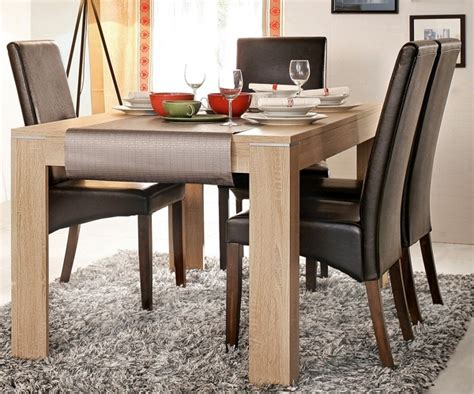 comedores modernos mesa madera sillas cuero muebles tuco