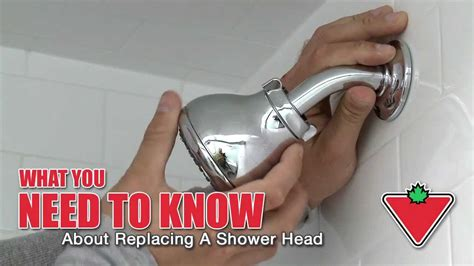 how to replace a shower head from canadian tire youtube