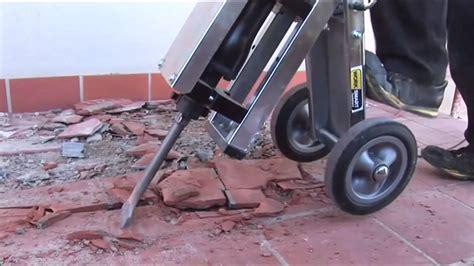 makinex jackhammer trolley demonstration youtube