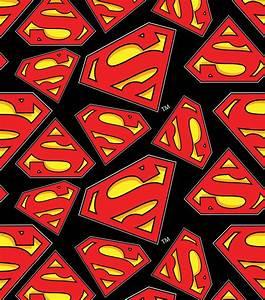 Superman All Over Fleece Fabric JOANN